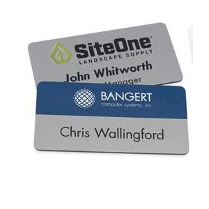 "Magnetic Name Badges- 1.5"" X 3"" (Silver)"